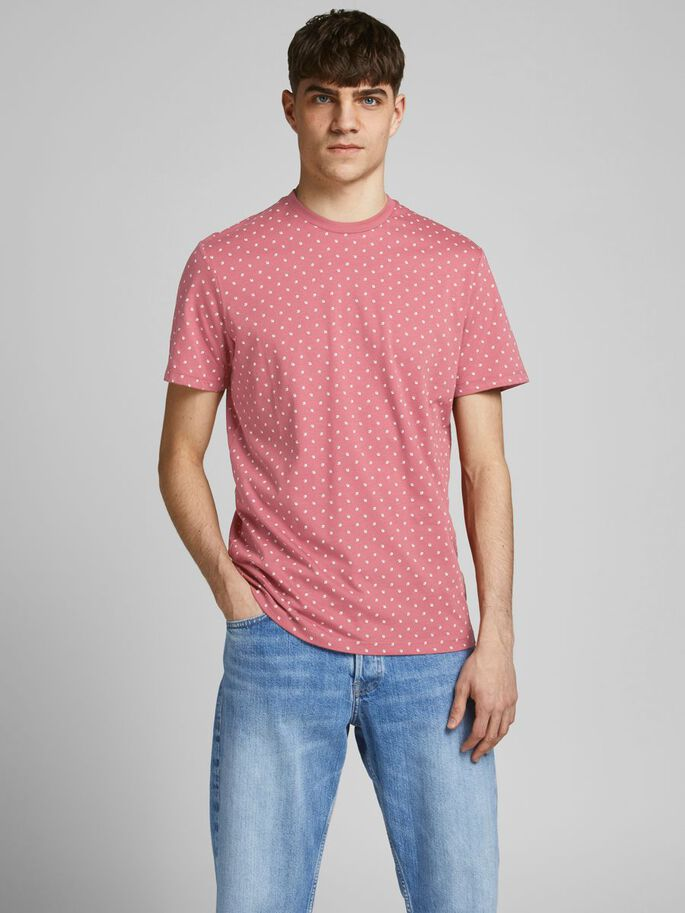 ALL OVER PRINTED T-SHIRT, Slate Rose, large