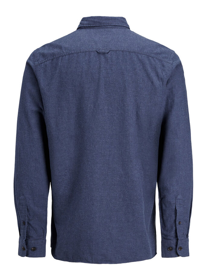 CASUAL LONG SLEEVED SHIRT, Blue Nights, large