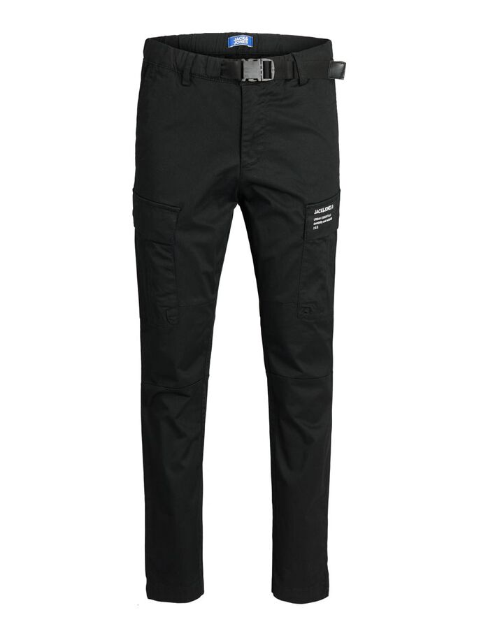 BOYS ACE PETE TAPERED FIT CARGOHOSE, Black, large
