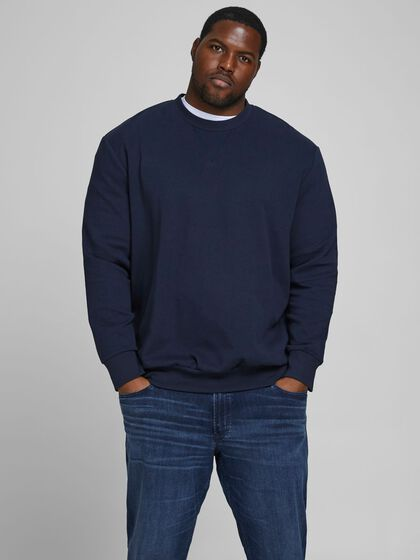 PLAIN PLUS SIZE SWEATSHIRT