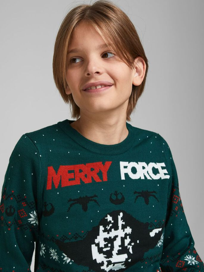 BOYS X-MAS KNITTED PULLOVER, Ponderosa Pine, large