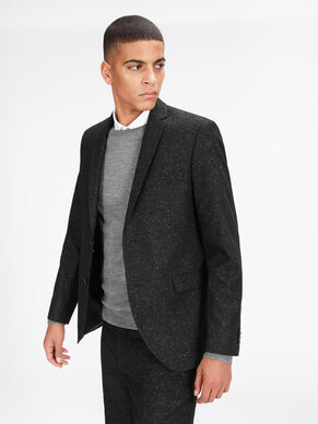 FLECKED WOOL AND SILK BLAZER
