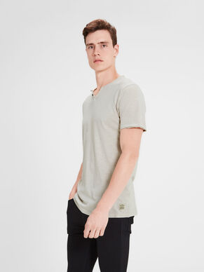 SPLIT NECK T-SHIRT