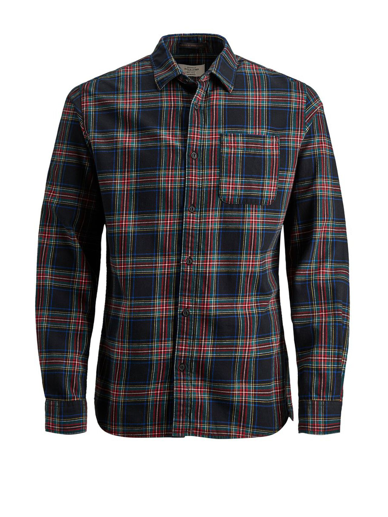 JACK & JONES Check Long Sleeved Shirt Men Red