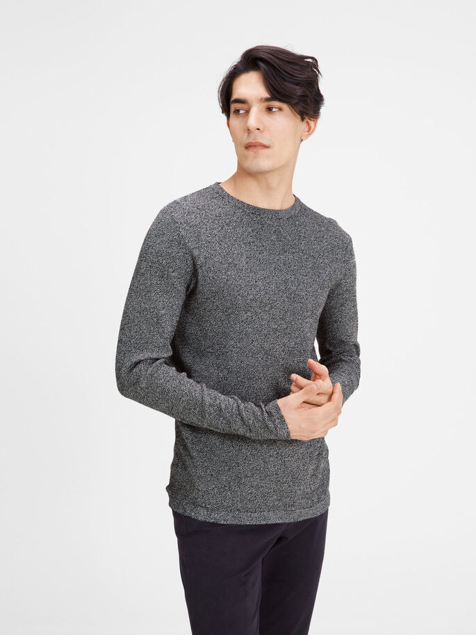 CLASSIC KNITTED PULLOVER, Jet Stream, large