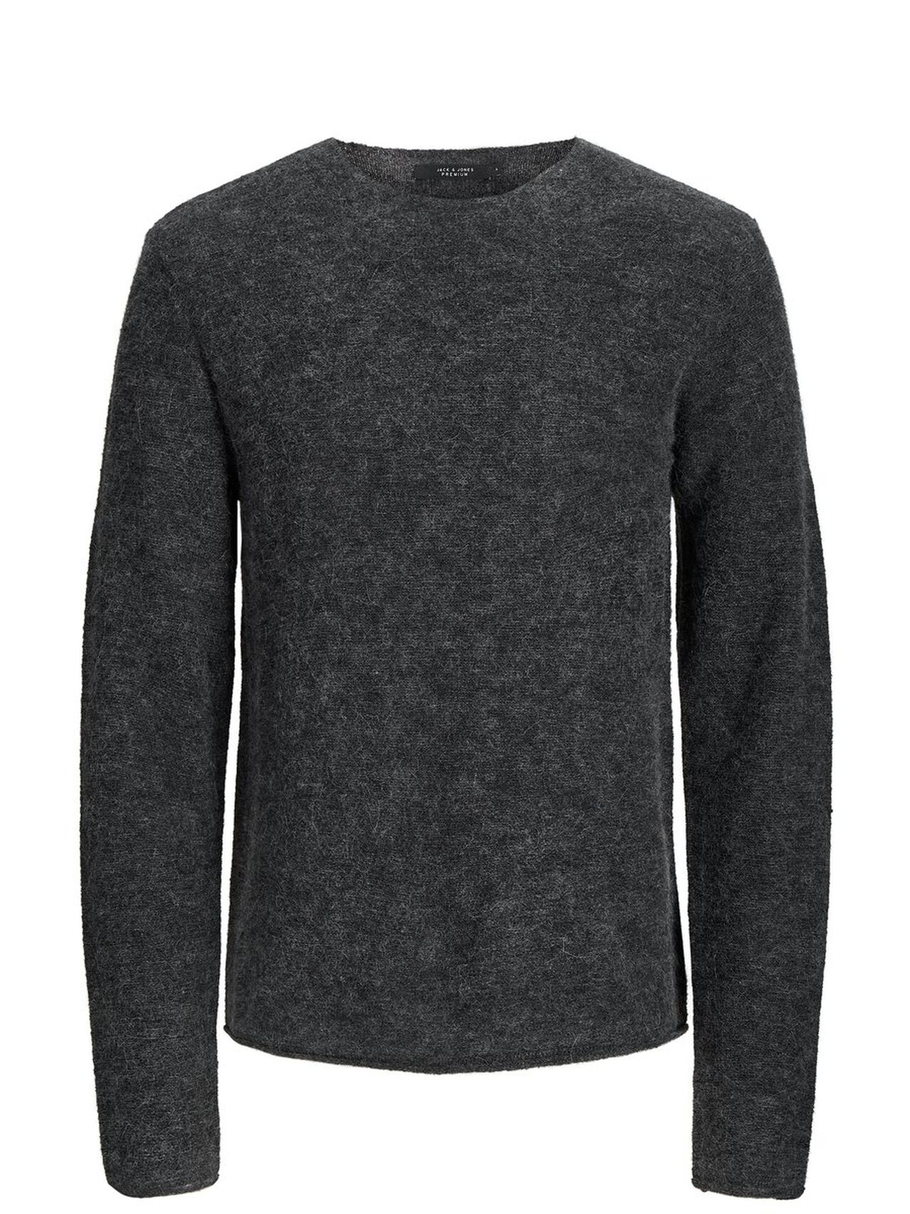 JACK & JONES Wool Blend Pullover Men Grey