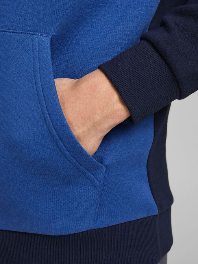 COLOUR BLOCK HOODIE, Galaxy Blue, large