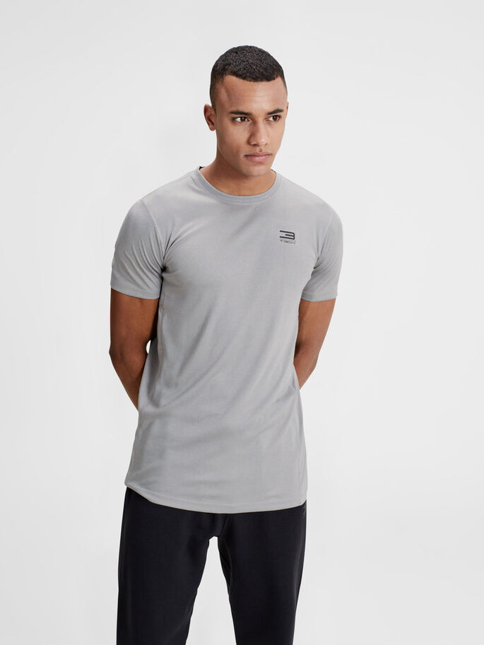 TECHNIQUE  T-SHIRT SPORT, Light Grey Melange, large