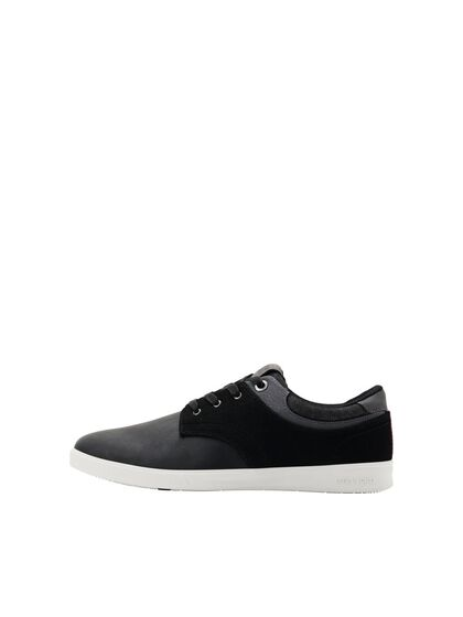PU LEATHER MIX SNEAKERS