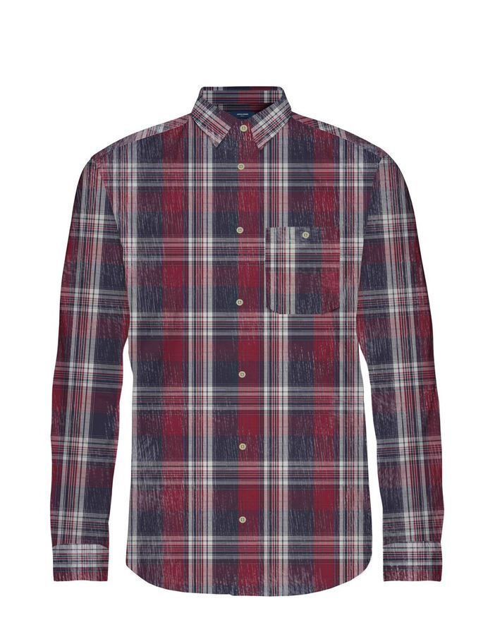 CHECKED WESTERN SHIRT, Rio Red, large