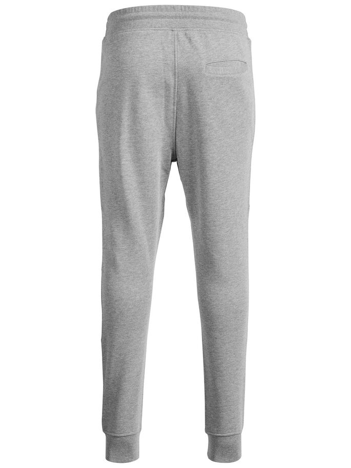 TIGHT-FIT- SWEATHOSE, Light Grey Melange, large