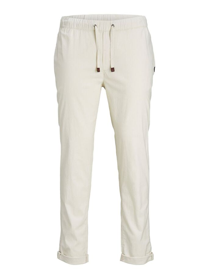 ACE BREEZE LINEN TROUSERS, Silver Birch, large