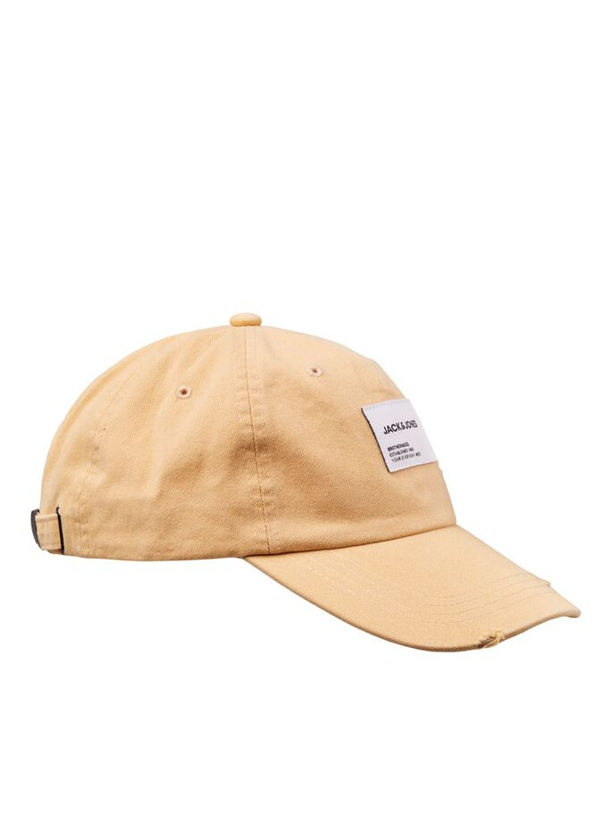 LOGO LABEL BASEBALL CAP, Cloud Cream, large