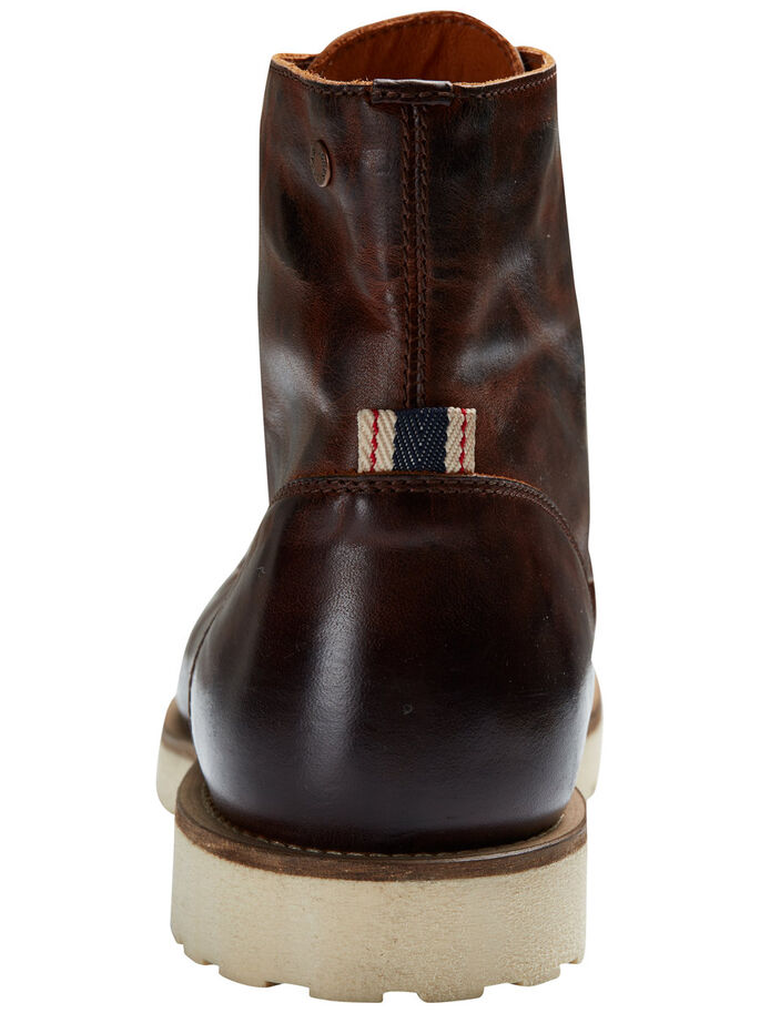 LEDER- STIEFEL, Brown Stone, large