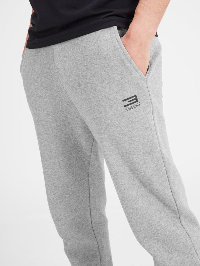 SPORTS SWEAT PANTS, Light Grey Melange, large