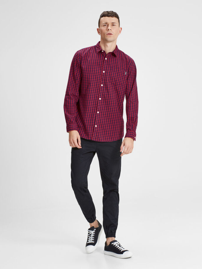 CASUAL CHEMISE À MANCHES LONGUES, Rosewood, large
