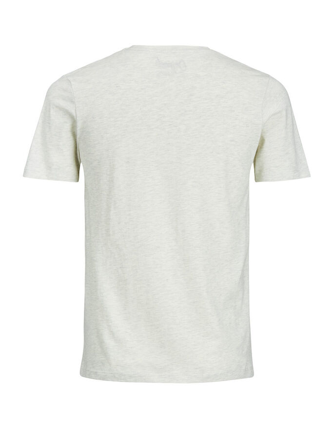 TRYCKT T-SHIRT, White Melange, large