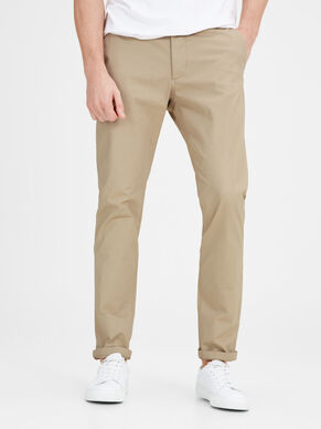JJIMARCO JJENZO WHITE PEPPER SLIM FIT NOOS TROUSERS