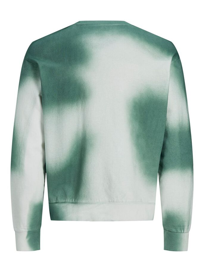 IMPRIMÉ TIE DYE SURDIMENSIONNÉ SWEAT-SHIRT, Pale Blue, large