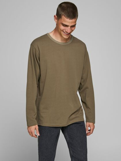 CREW NECK LONG-SLEEVED T-SHIRT