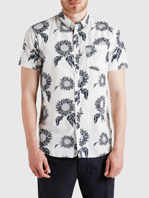 ALL-OVER PRINTED SHORT SLEEVED SHIRT