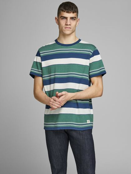 MULTI-COLOURED STRIPE T-SHIRT