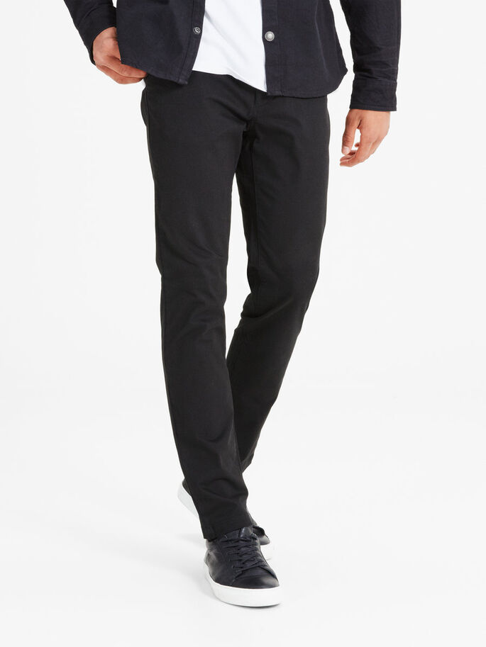 88b011b416c156 Marco schwarze slim fit chino