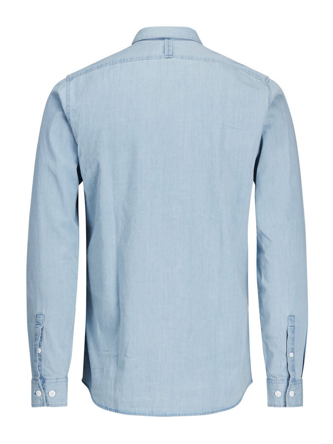 CASUAL LONG SLEEVED SHIRT, Oyster Mushroom, large
