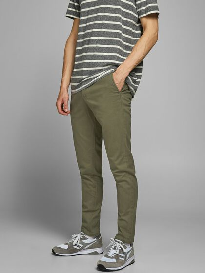 MARCO BOWIE SA OLIVE NIGHT SLIM FIT CHINO