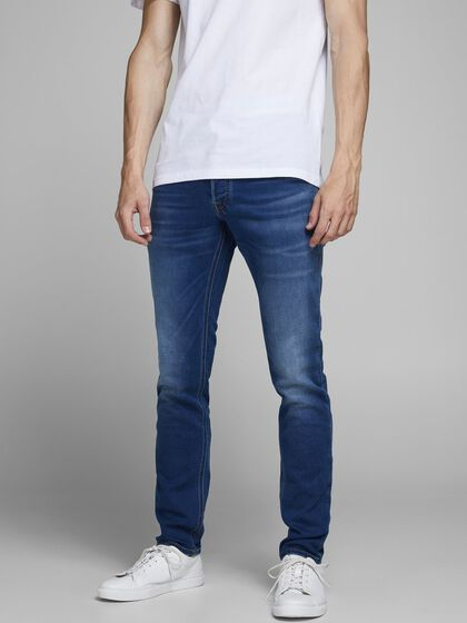 GLENN ORIGINAL GE 006 INDIGO KNIT SLIM FIT JEANS