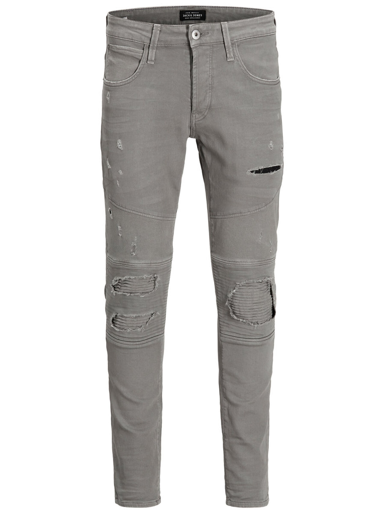 JACK & JONES Glenn Axx Biker Dark Grey Noos Trousers Men Grey