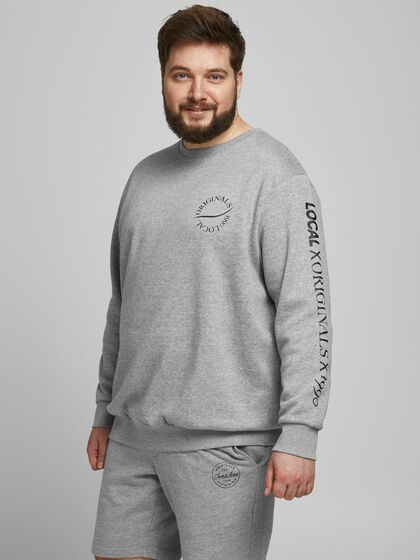 MULTIPLE LOGO PLUS SIZE SWEATSHIRT