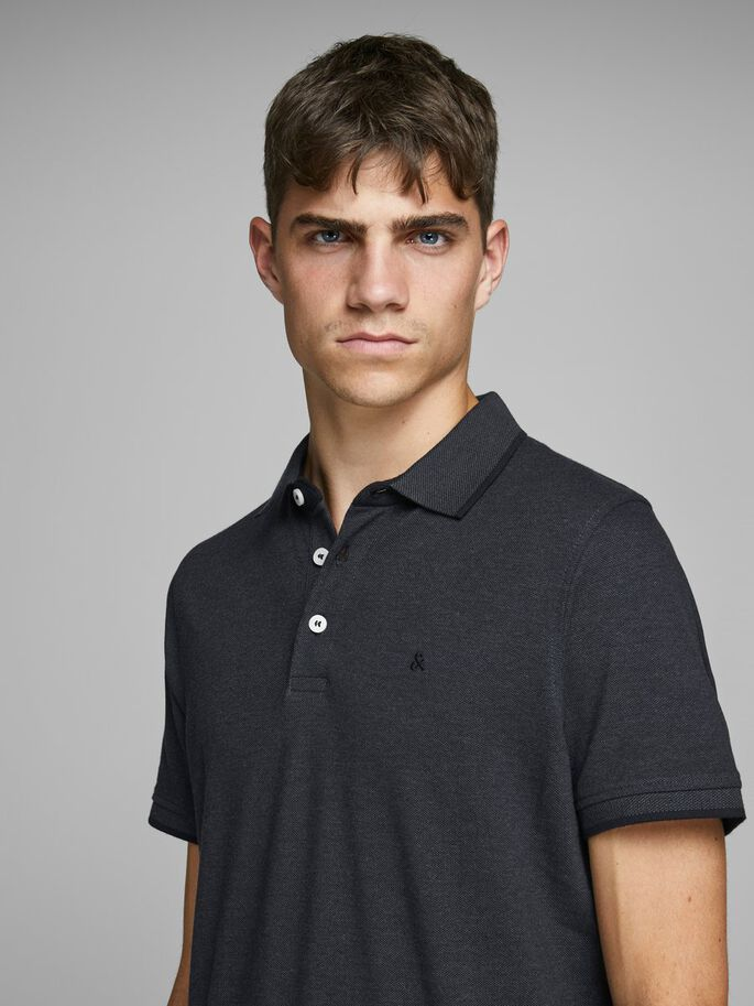 ddb912b7 CLASSIC POLO SHIRT, Dark Grey Melange, large