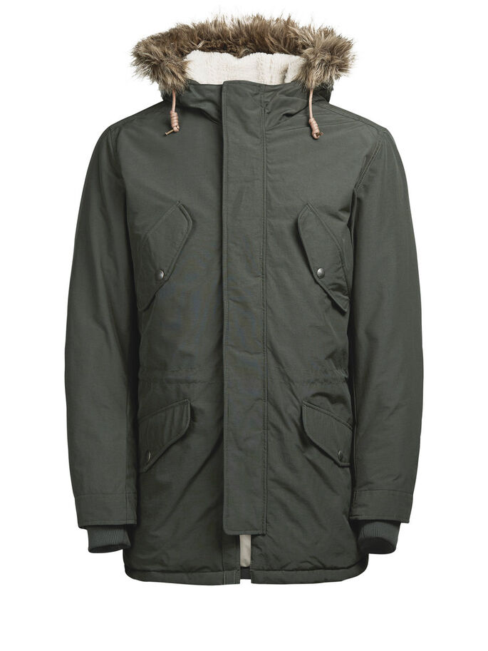 HEAVY-DUTY PARKA COAT, Rosin, large