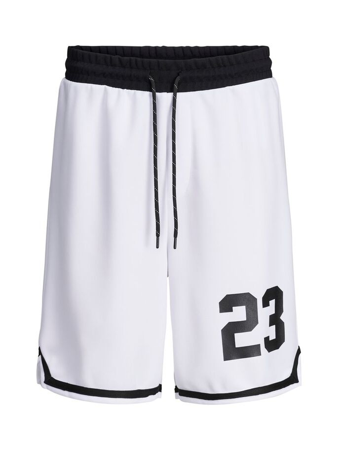 SPORTY SWEAT SHORTS, White, large
