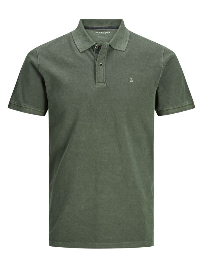 KATOENEN JERSEY POLO, Forest Night, large