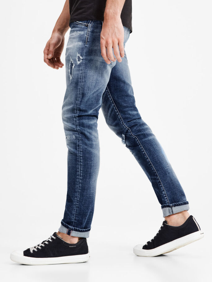 GLENN FOX BL 804 JEAN SLIM, Blue Denim, large
