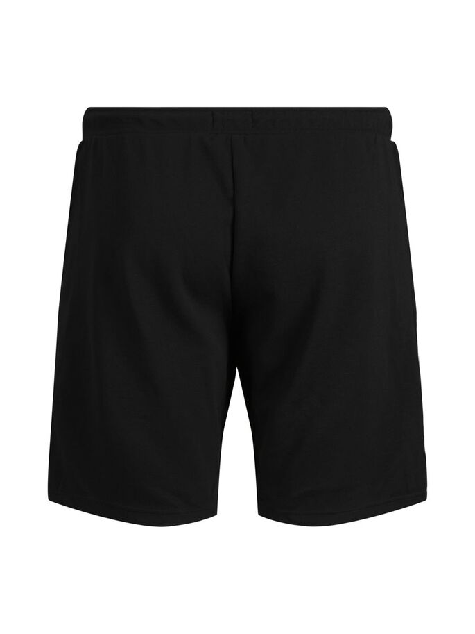 CLASSIC PLUS SIZE SWEAT SHORTS, Black, large