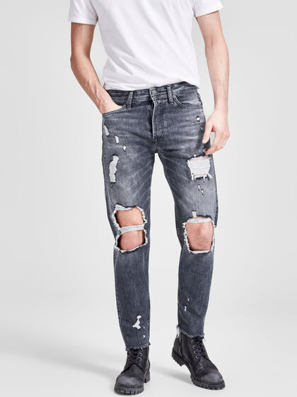 FRED ORIGINAL CROPPED JJ 075 JEAN COUPE FUSELÉE