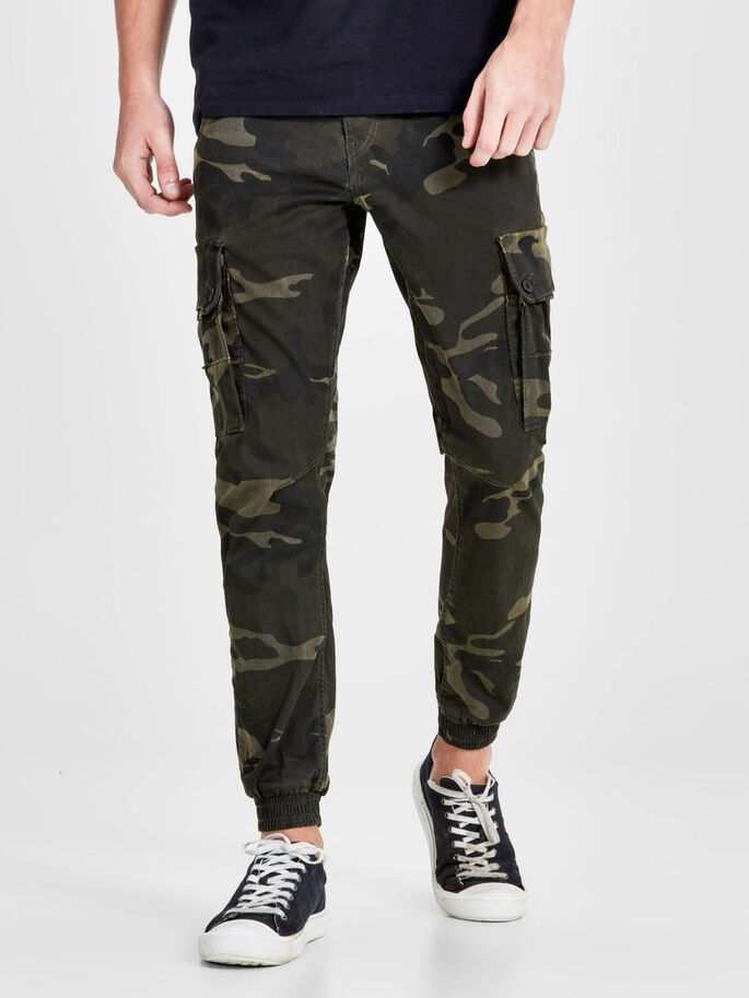 PAUL WARNER AKM 280 CAMO PANTALON CARGO, Green Eyes, large