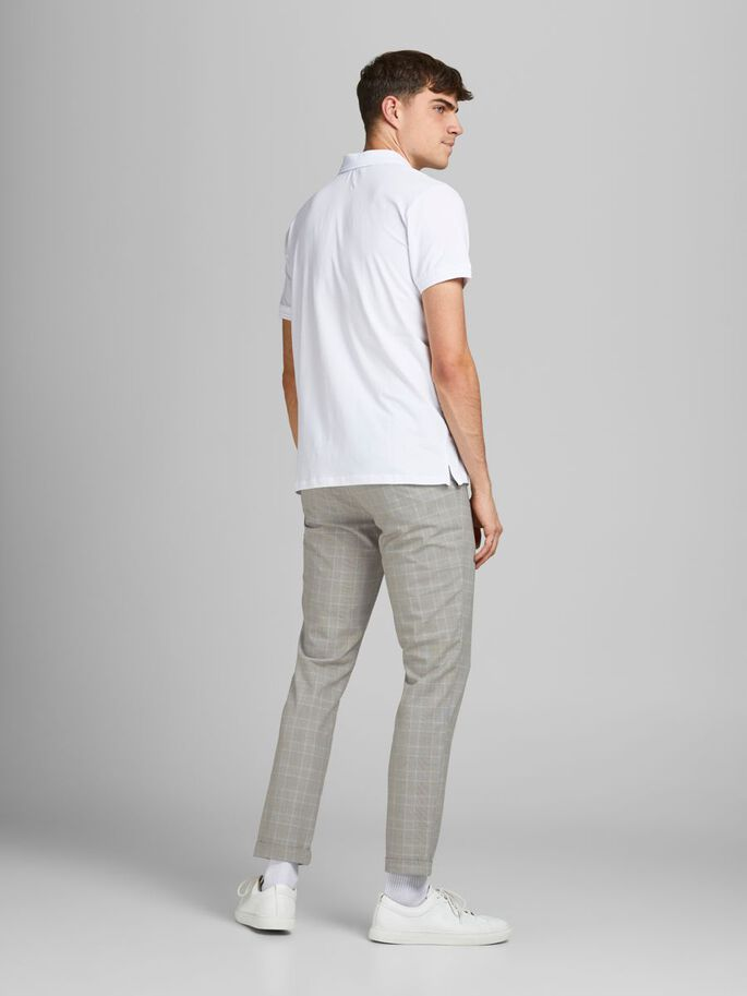MARCO CONNOR AKM CHECKED CHINOS, Oatmeal, large