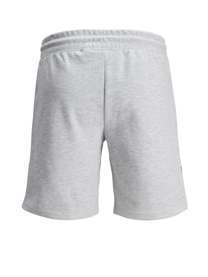 BLOCS DE COULEUR SHORTS EN MOLLETON, Light Grey Melange, large