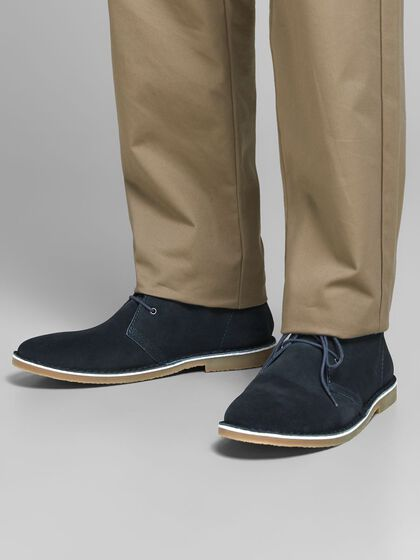 COW LEATHER DESERT BOOTS