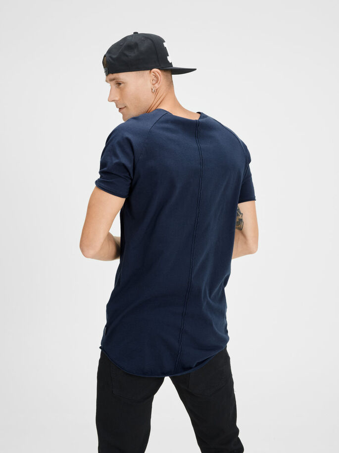 PLAIN REGULAR FIT T-SHIRT, Navy Blazer, large