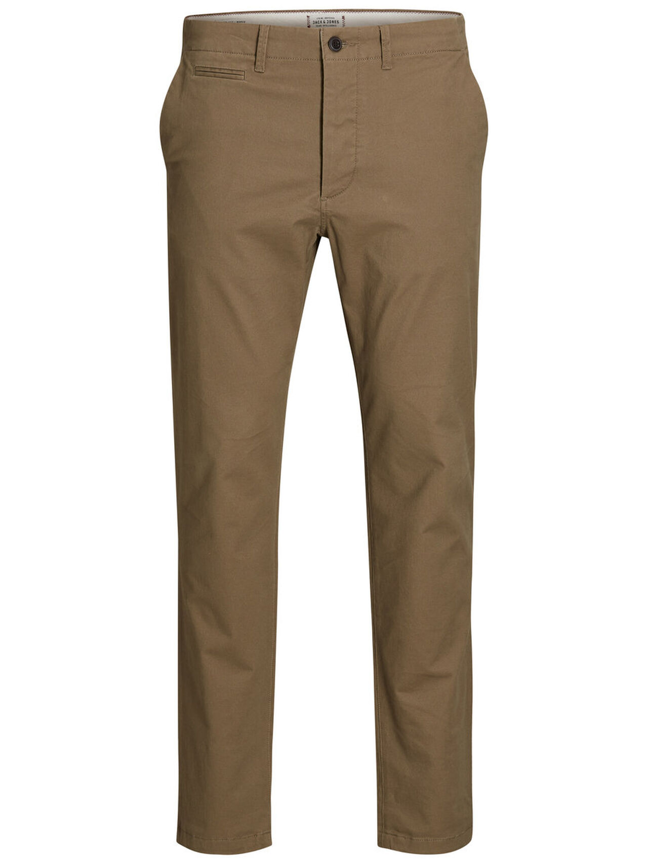 JACK & JONES Marco Enzo Tan Slim Fit Chinos Men Brown