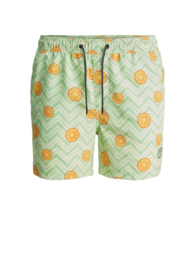 RECYCLINGPOLYESTER BADESHORTS, Green Ash, large