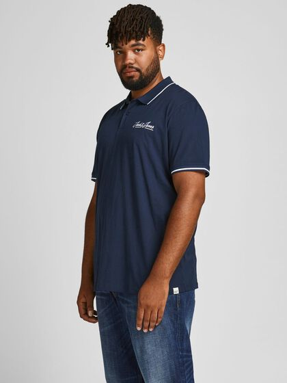 CONTRAST PIPING PLUS SIZE POLO
