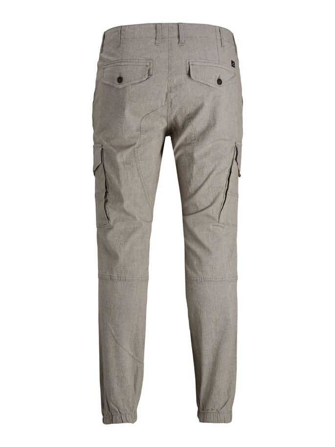 PAUL FLAKE CHECKED PLUS SIZE CARGOBROEK, Light Gray, large