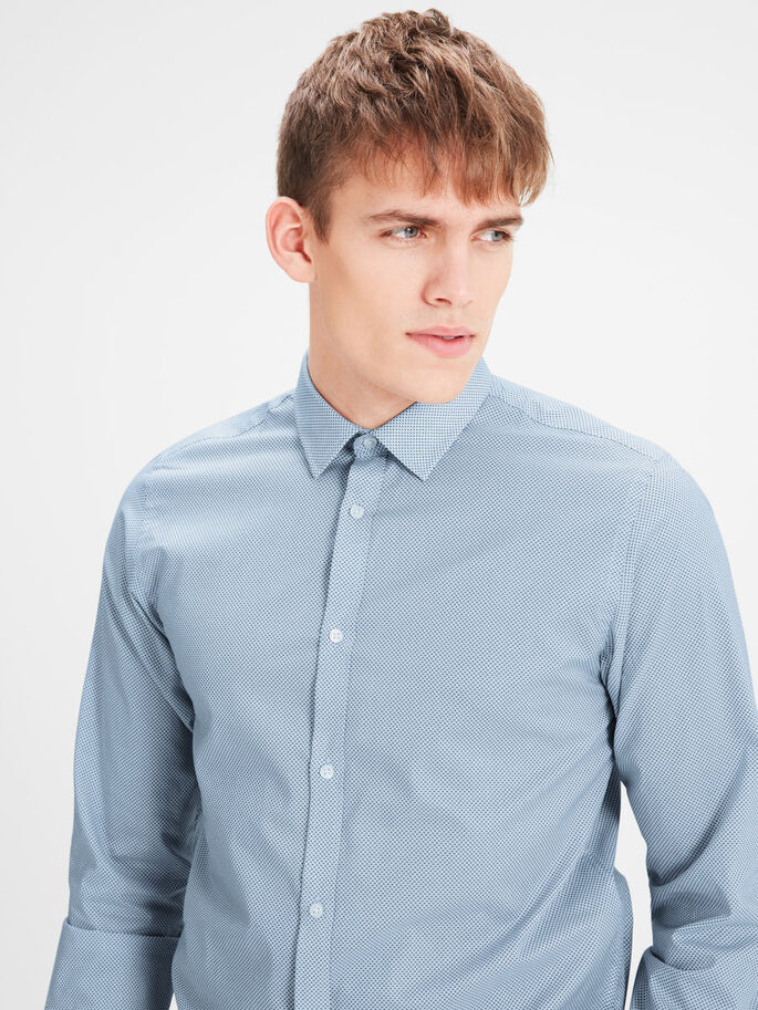 ESTAMPADA CAMISA DE MANGA LARGA, Cashmere Blue, large