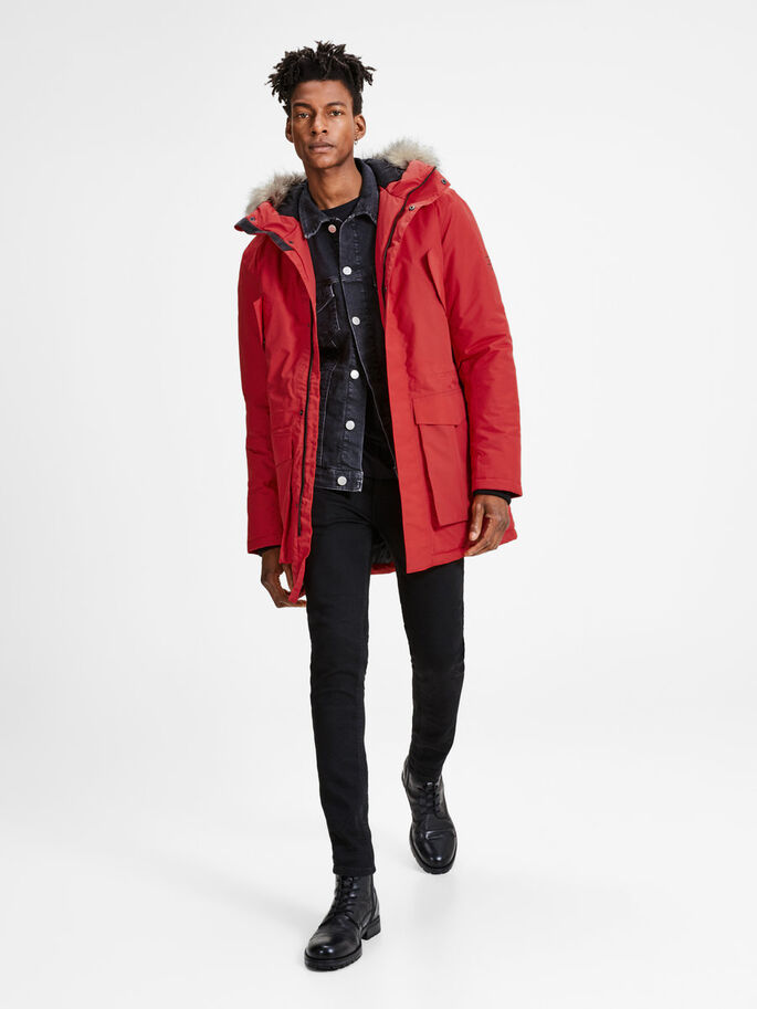 IMPERMÉABLE PARKA, Chinese Red, large